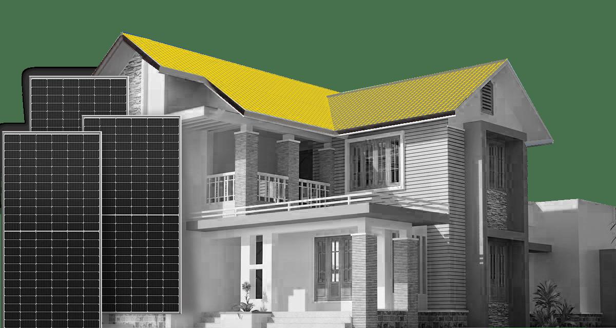 Μακέτα σπιτιού που μπορεί να τοποθετηθεί οικιακό net metering φρωτοβολταϊκό